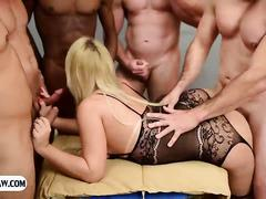 Big round ass latin tranny gangbang fucked by some guys