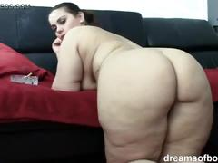 German bbw pawg samantha is teasing while she is smoking a cigarette