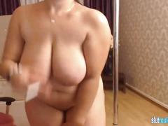 Romanian milf with big natural tits on cam