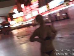 Hot amateur blowjob in public