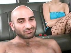 Muscled guy drilling gay ass in the boys bus