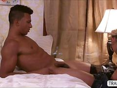 American transbabe aubrey gets her ass screwed by a latino guy