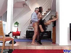 Elegant babe doris ivy gets her ass nailed