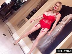 kelly madison, big tits, lingerie, big boobs, titty fucking, big natural tits