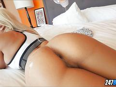 Sexy oiled up ass to play with