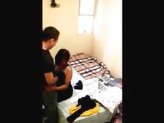 Latina stepsister spied on in her bedroom