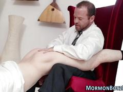 Mormon elder ass spanked