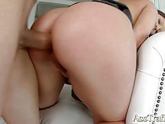 Asstraffic brunette doggystyle anal in her soft ass