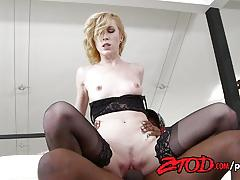 Maia davis bounces on this hard dick