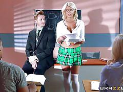 tattoo, blonde, handjob, big tits, babe, school, blowjob, big dick, big tits at school, brazzers network, bill bailey, layla price