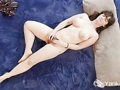 Nasty brunette masturbating