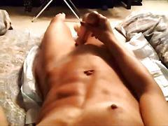 Enjoying multiple orgasms while sucking cock