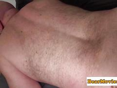 Mature bears ass rimmed and fucked