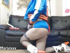 Harley quinn - gem butt plug & dildo fuck