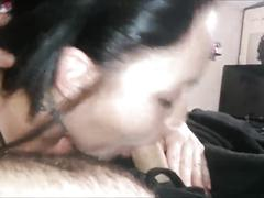 First blowjob of february belly button cum, crying, deepthroat and swallow