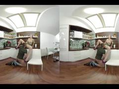 Electric alexis crystal does nude yoga and has voyeur vr sex