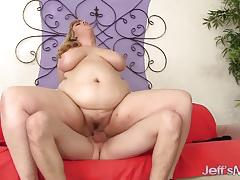 Blonde plumper loves to fuck