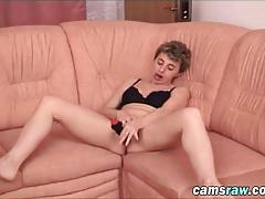 Slutty amateur bitch ana fingers pussy and shoves huge black dildo in it
