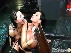 Surprising german slut rough piss swallowing