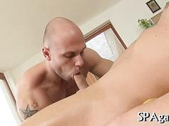 Hunks getting nasty as the cock just wont go down