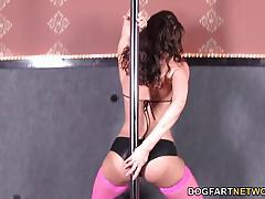 Sexy angelica saige sucking huge cock