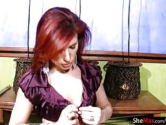 shemale, big ass, high heels, puffy nipples, teens, small tits, jeans, redhead, jerking, slim, closeup, shaved, pretty face, cum on hands, shemale tugjobs, shemax network, joy spears