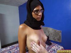 Arab gal gets her sweet pussy toss up by a big english cock
