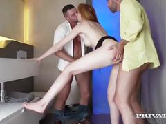 Anny aurora has her anal virginity take in a hot threesome