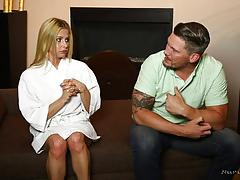 Slipping cock into the nuru lubed rachel roxx