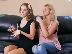 brooklyn chase, kimmy granger, two girls, lesbian, kissing, orgasm, grinding, pussy licking, scissoring