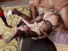 bondage, interracial, anal, threesome, theupperfloor, bdsm, 3some, ass-fuck, slave, collar, domination, 3way, rough-sex, hardcore, kink, ebony, tattooed, tattoo