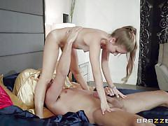 Mom caught me sucking step-father's cock