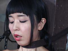 bdsm, interracial, vibrator, asian babe, device bondage, infernal restraints, pussy hook, infernal restraints, marica hase