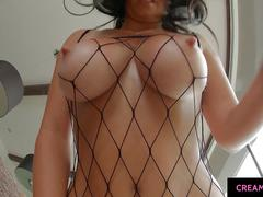 Claudia hot with big boobs getting titfucked