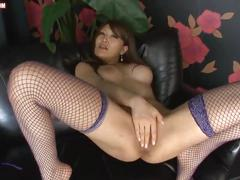 Asian girl extreme pussy play