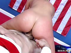 cherie deville, blowjob, riding, doggystyle, cumshot, facial, blonde, milf, office, reverse cowgirl, cowgirl, mature, sucking, licking pussy, role play