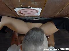 Amateurs sucking cock at gloryhole