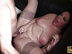 Submissive amateur gets her moist mouth hammered