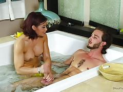 Cock stuffed into slippery muff of ryder skye