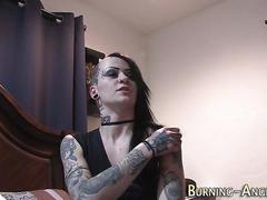 Alt tatted slut fingered