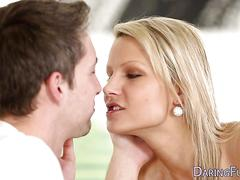 Blonde european gets oral