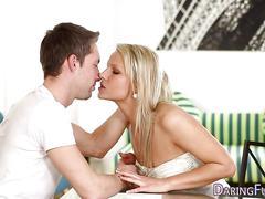 Blonde european gets oral