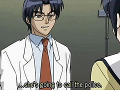 Anime school girls tied up and fucked by the professor