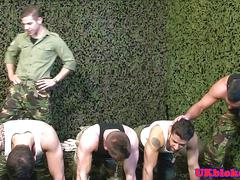British military hunks group fuck and suck