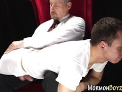 Bad mormon gets spanked