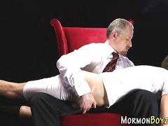 Bad mormon gets spanked