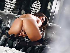 eva lovia, lingerie, masturbation, stockings, fingering, solo, orgasm, masturbate