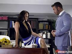 Muff stuffed eva lovia with hard thick dick