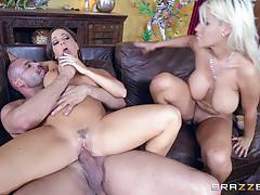 Threesome with bridgette b and abigail mac