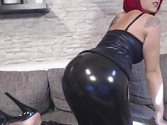 Nina devil has a tight ass in hot pants